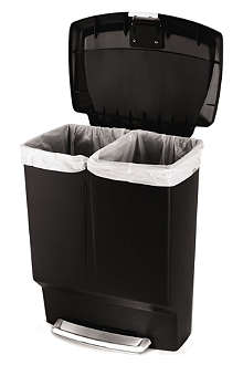 SIMPLE HUMAN Rectangular plastic recycling bin 60L