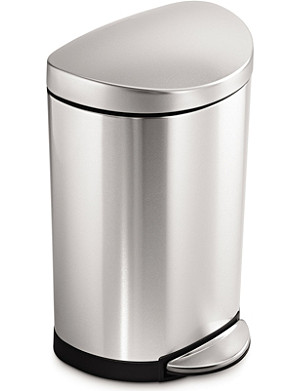 SIMPLE HUMAN Semi-round pedal bin 10L