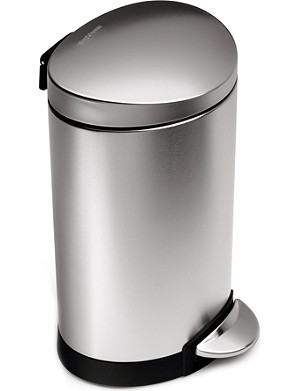 SIMPLE HUMAN Semi-round pedal bin 6L
