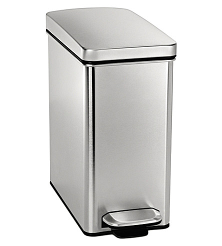 SIMPLE HUMAN Profile stainless steel pedal bin 10L