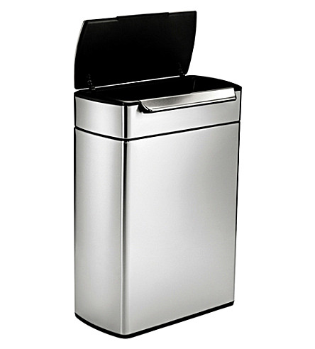 SIMPLE HUMAN Touch-bar stainless steel recycling bin 48L