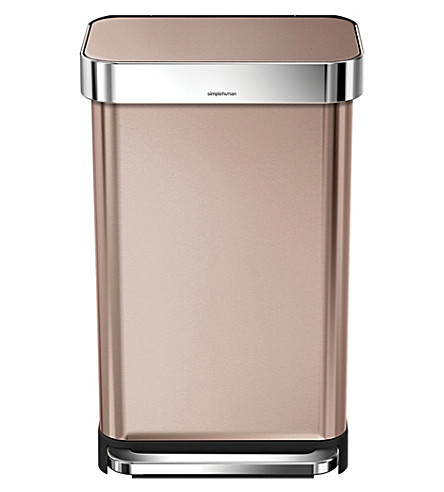 SIMPLE HUMAN Rectangular bin 45 litre, rose gold
