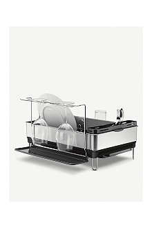 SIMPLEHUMAN Steel dishrack with wine glass holders