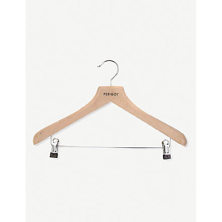 PERIGOT Women's wooden clip clothes hanger