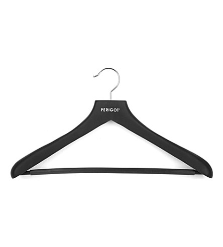 PERIGOT Men's rubber-coated clothes hanger