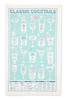 STUART GARDINER 'Classic cocktails' tea towel