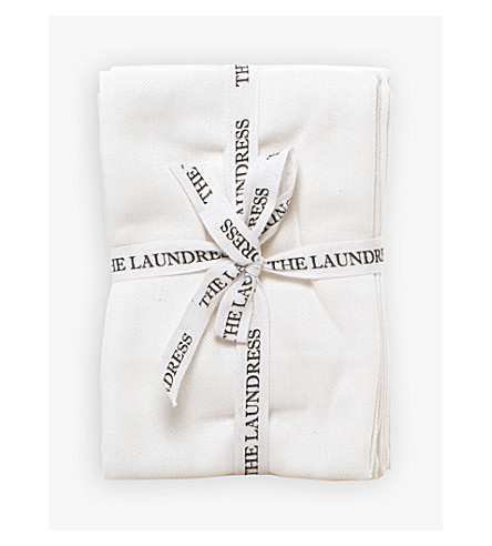 THE LAUNDRESS Lint free set of three cleaning cloths