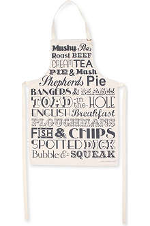 VICTORIA EGGS English Dinner Typographic apron