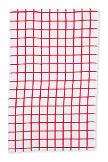 LE CHATEAU Pencil check terry tea towel