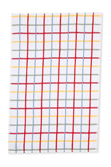 LE CHATEAU Multi check terry tea towel