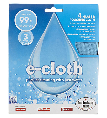 E-CLOTH Glass and polishing cloths 4-pack