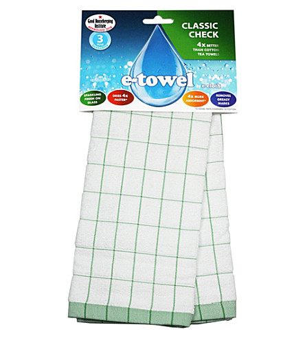 E-CLOTH Classic check tea towel