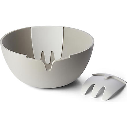 JOSEPH JOSEPH Hands-on salad bowl and servers (Stone