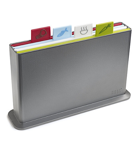 JOSEPH JOSEPH Index advance chopping board set (Silver