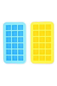 SILICONEZONE Pair of silicone ice cube trays