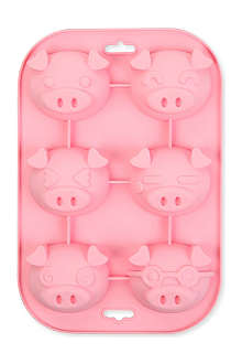 SILICONEZONE Piggy six-cup muffin mould