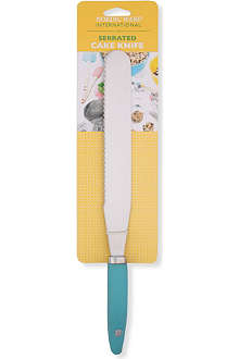 NORDICWARE Stainless steel and silicone serrated cake knife