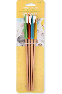 NORDICWARE Four-piece large silicone spatula set