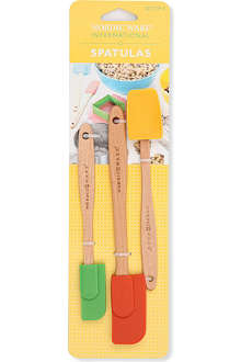 NORDICWARE Three-piece assorted silicone spatula set