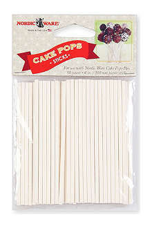 NORDICWARE Pack of 50 wooden cake pop sticks