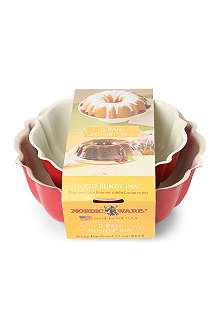 NORDICWARE Set of 2 6-cup and 12-cup bundt pans