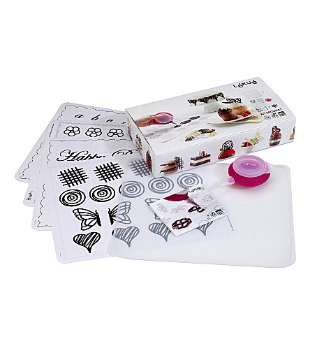 LEKUE Decomat chocolate decoration stencil kit