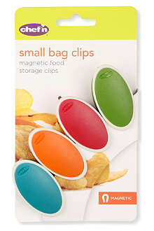 DEXAM Pack of four small bag clips