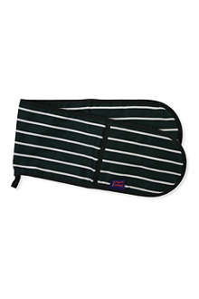 DEXAM Classic butcher's striped double oven gloves