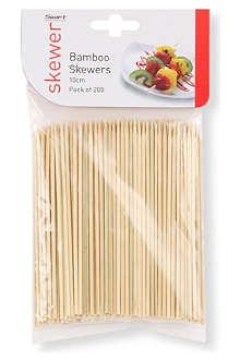 DEXAM Pack of 200 bamboo skewers 10cm