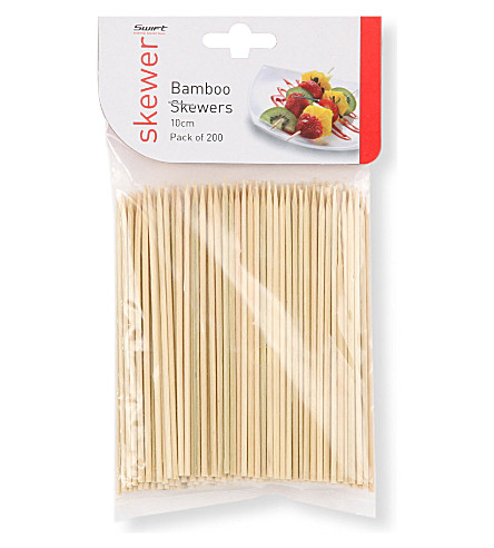 DEXAM Pack of 200 bamboo skewers 10cm