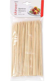 DEXAM Pack of 100 bamboo skewers 15cm
