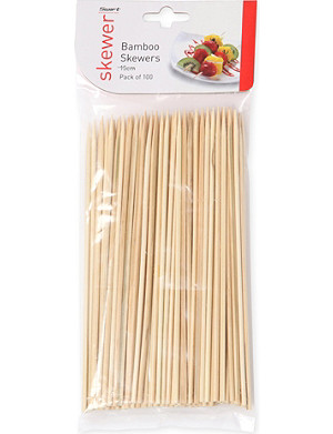 DEXAM Pack of 100 bamboo skewers 15cm
