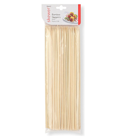 DEXAM Pack of 100 bamboo skewers 25cm