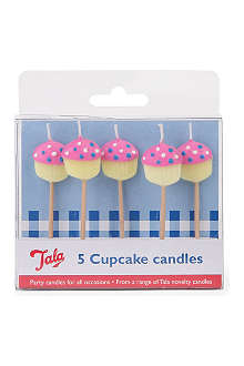 TALA Pack of 5 cupcake candles