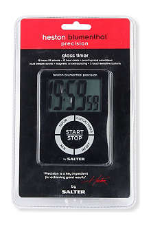 SALTER Heston Blumenthal Precision digital glass timer