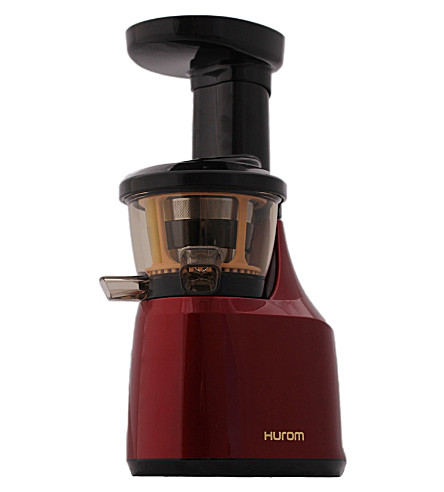 Hurom Slow Juicer Hu 400 Test : HUROM - Pro Series Burgundy HU-400 juicer Selfridges.com