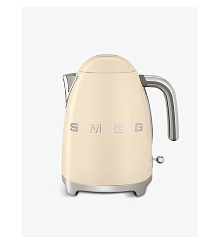 SMEG KLF03 logo stainless steel kettle (Cream