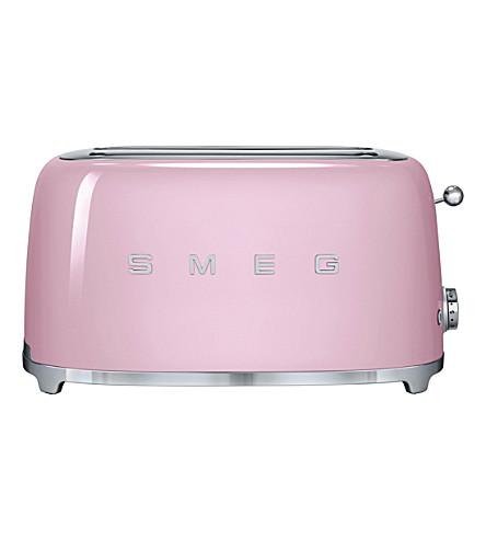 SMEG Smeg pink 4-slice toaster (Pastel+pink