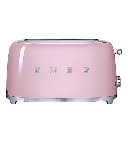 SMEG Smeg pink 4-slice toaster (Pink