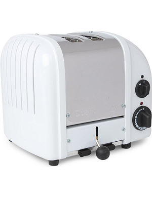 DUALIT Vario two-slice toaster in white