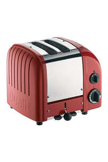 DUALIT Vario two–slice toaster red