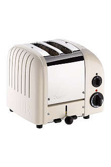 DUALIT Vario two–slice toaster in cream