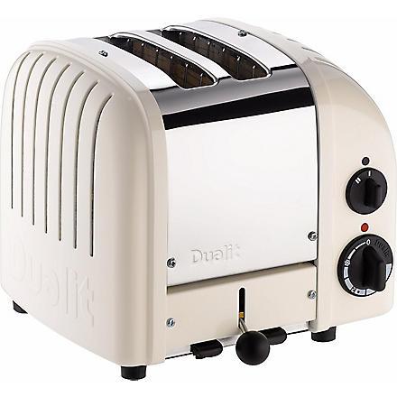 DUALIT Vario two–slice toaster in cream (Canvas+white