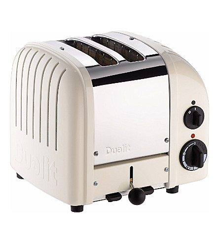 DUALIT Vario two–slice toaster in cream (Canvas+white