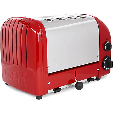 DUALIT Vario four-slice toaster in red