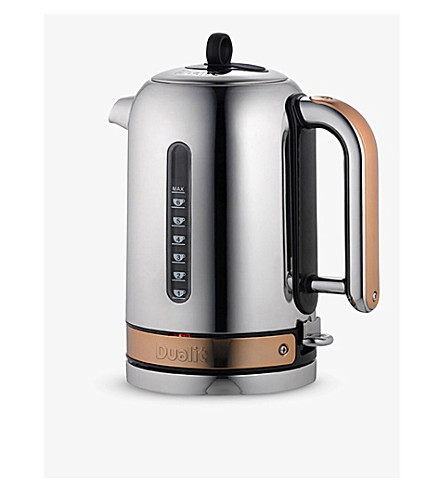 DUALIT Chrome and copper classic kettle