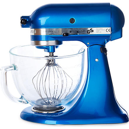 KITCHEN AID Artisan mixer electric blue glass bowl