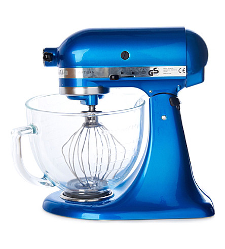 KITCHENAID Artisan mixer electric blue glass bowl