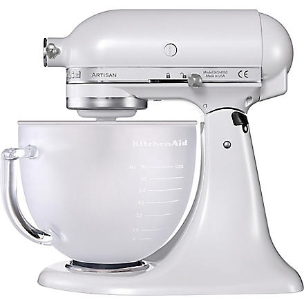 KITCHEN AID Limited Edition Artisan mixer frosted pearl glass