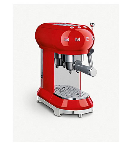 SMEG Smeg red espresso machine